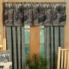 Blue Ridge Trading The Bears Rod Pocket 2-Pack Curtain Panels