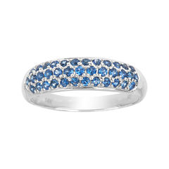 LIMITED QUANTITIES  Genuine Blue Sapphire 14K White Gold Ring
