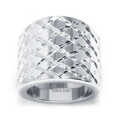 Sterling Silver Lattice Ring
