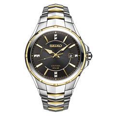 Seiko Coutura Mens Silver Tone Bracelet Watch-Sne444