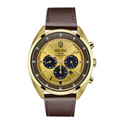 Seiko Recraft Mens Brown Strap Watch-Ssc570