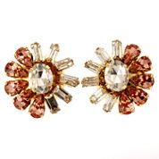 Oval Multi Color Crystal Stud Earrings