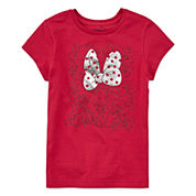 Disney Short Sleeve Minnie Mouse T-Shirt-Big Kid Girls