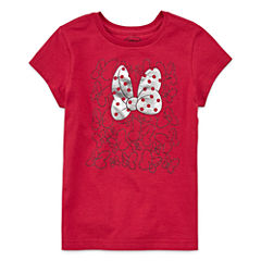 Disney Short Sleeve Minnie Mouse T-Shirt-Big Kid Girls