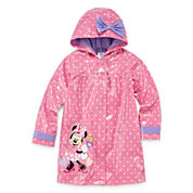 Disney Girls Minnie Mouse Raincoat-Big Kid