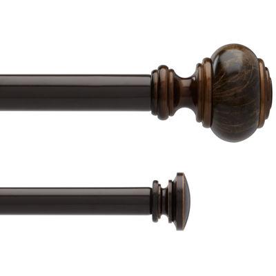 liz claiborne marble knob double adjustable curtain rod