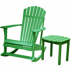 Adirondack Rocker And Table 2-pc. Patio Lounge Set