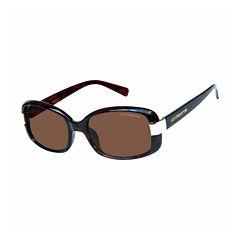 Liz Polarized Full Frame Rectangular UV Protection Sunglasses-Womens