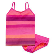 Nike® 2-pc. Striped Tankini Swimsuit - Girls 7-16