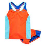 Nike® 2-pc. Colorblock Tankini Swimsuit - Girls 7-16