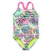 Breaking Waves Aztec Animal Swimsuit - Girls 7-16 and Plus