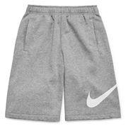 Nike® Swoosh Fleece Shorts - Boys 8-20