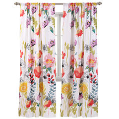 Greenland Home Fashions Watercolor Dream 2-pk. Rod-Pocket Curtain Panels