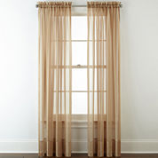 Liz Claiborne® Lisette Stripe Sheer Rod-Pocket Window Treatments