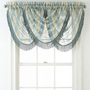 Liz Claiborne® Lisette Stripe Rod-Pocket Waterfall Valance