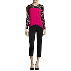 nicole by Nicole Miller® Tiered Lace Blouse or Pintuck Ankle Pants