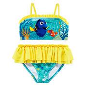 Disney Collection 2-pc. Dory Swim Set - Girls 2-10