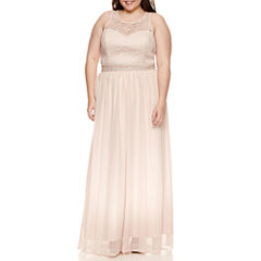 My Michelle Sleeveless Beaded Dress Set-Juniors Plus