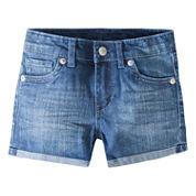 Levi's Denim At Waist Shortie Shorts - Preschool