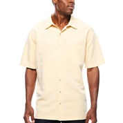 Van Heusen Short Sleeve Rayon Polyester Button-Front Shirt- Big & Tall