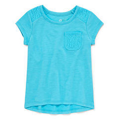 Okie Dokie Short Sleeve T-Shirt-Toddler Girls