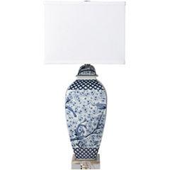 Décor 140 Texla 13x13x29.5 Indoor Table Lamp - Blue