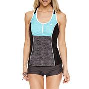 ZeroXposur® Tie Dye Tankini Swimsuit Top or Boyshort Swim Bottoms