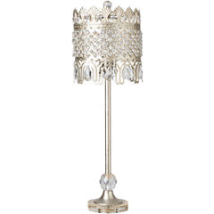 Décor 140 Escreet 9x9x25.25 Indoor Table Lamp - Silver