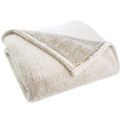 Pacific Coast Textiles Velvet Touch Two-Tone Throw