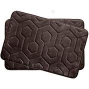 Bounce Comfort Hexagon Memory Foam 17x24