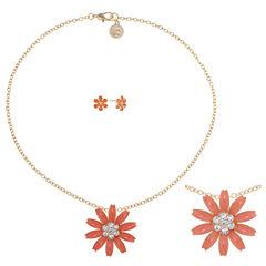 Liz Claiborne Womens 2-pc. Orange Jewelry Set