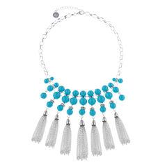 Liz Claiborne Blue Statement Necklace