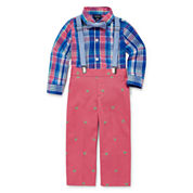 IZOD Boys 3-pc. Long Sleeve Pant Set-Baby