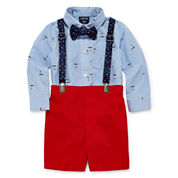 IZOD Boys 3-pc. Long Sleeve Short Set
