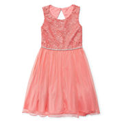 Speechless Sleeveless Fit & Flare Dress - Big Kid