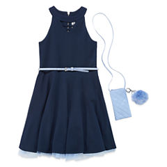 Knit Works Sleeveless Skater Dress - Big Kid Girls