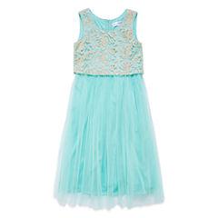 Emerald Gumdrops Sleeveless A-Line Dress Girls