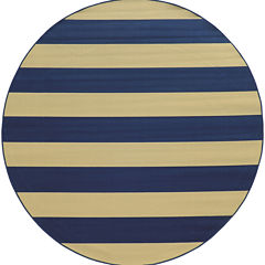 Covington Home Cabana Stripes Round Rug - 7'10