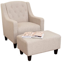Tabitha 2-pc. Tufted Chair and Ottoman Set