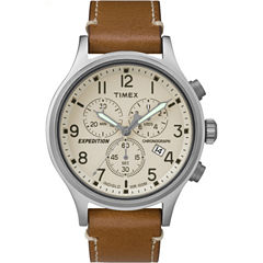 Timex Expedition Scout Mens Brown Strap Watch-Tw4b092009j