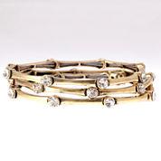 Natasha Accessories Womens Clear Crystal Stretch Bracelet