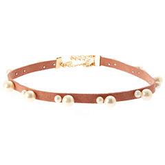 Natasha Accessories Womens White Pearl Choker Necklace