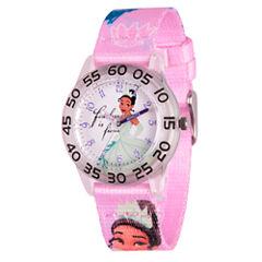 Disney Princess & The Frog Girls Pink Strap Watch-Wds000131