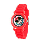 Disney Mickey Mouse Boys Red Strap Watch-Wds000144