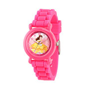Disney Beauty and the Beast Girls Pink Strap Watch-Wds000146