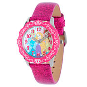 Disney Time Teacher Disney Princess Girls Pink Strap Watch-W001980