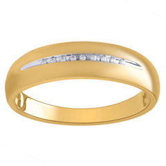 Mens Diamond Accent White Diamond 10K Gold Band
