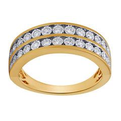 Womens 3/8 CT. T.W. Genuine White Diamond 10K Gold Band