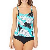 St. John's Bay ® Vintage Aloha Peasant Tankini or Brief Swimsuit Bottom