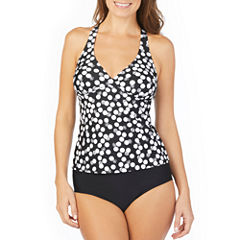 St. John's Bay ® Polka Dot Halter Tankini or Brief Swimsuit Bottom